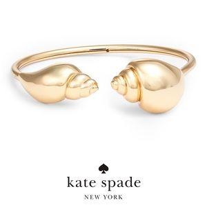 Kate Spade Under The Sea Shell Flex Cuff Gold NWT